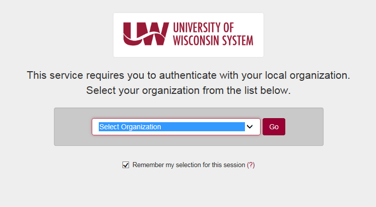 This is an example of the UW System using a federated access system for its students, faculty, and staff to access a website for payroll.